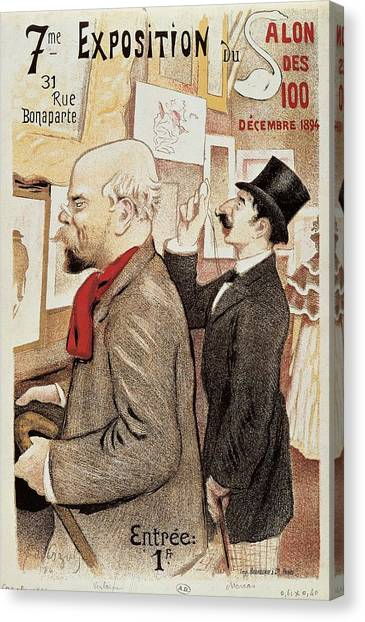 Gent Canvas Print - France Paris Poster Of Paul Verlaine And Jean Moreas by Anonymous