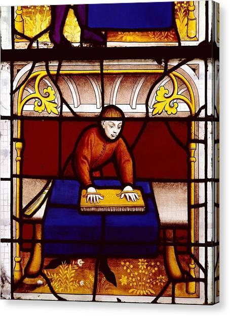 Fabric Of Society Canvas Print - France. Semur-en-auxois. Church by Everett