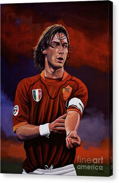 Europa Canvas Print - Francesco Totti by Paul Meijering
