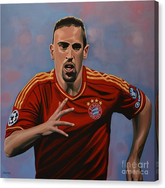 World Cup Canvas Print - Franck Ribery by Paul Meijering