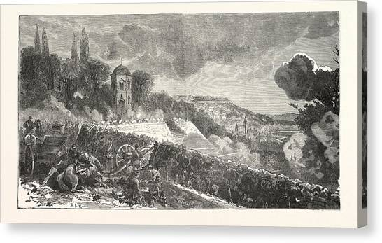 Garden Scene Canvas Print - Franco-prussian War Scene From The Defense Of The Park by French School