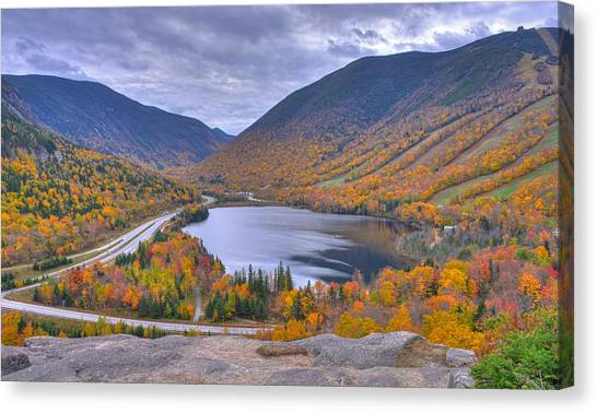 Franconia Notch From Artist's Bluff Canvas Print