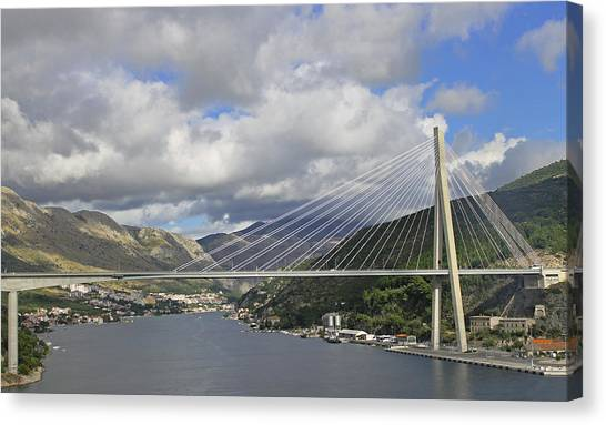 Franjo Tudman Bridge Canvas Print