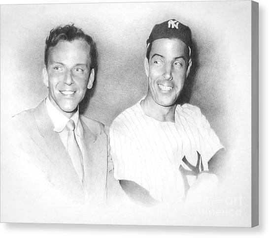 Frank Sinatra Canvas Print - Frank And Joe by TPD Art