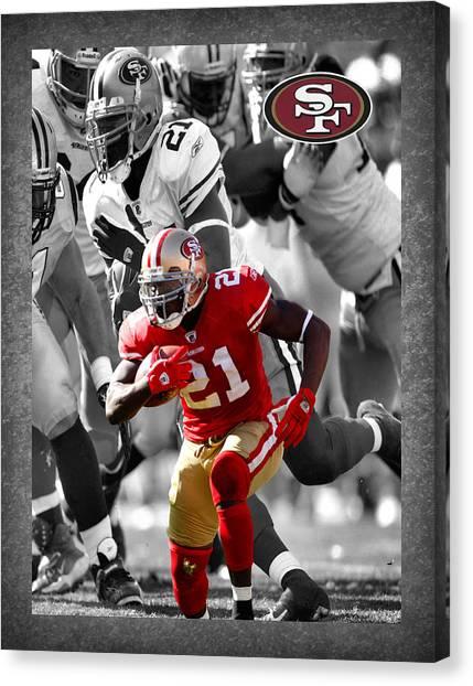 San Francisco 49ers Canvas Print - Frank Gore 49ers by Joe Hamilton