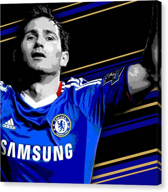 Soccer Players Canvas Print - Frank Lampard Chelsea Print by Pro Prints