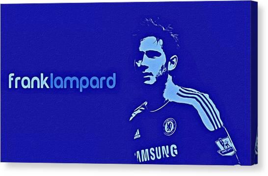 Chelsea Fc Canvas Print - Frank Lampard Poster Art by Florian Rodarte