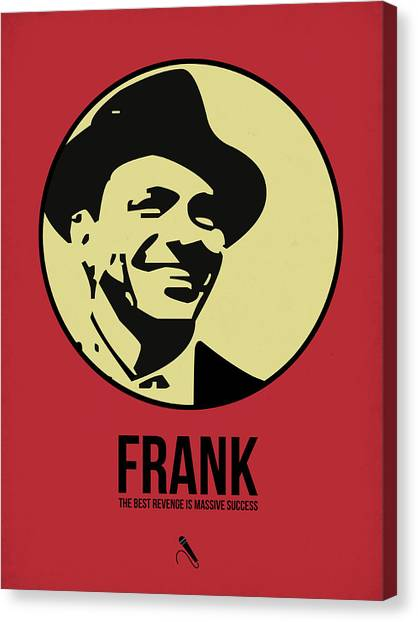 Jazz Canvas Print - Frank Poster 2 by Naxart Studio