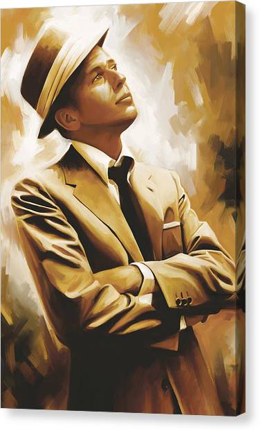 Celebrity Canvas Print - Frank Sinatra Artwork 1 by Sheraz A
