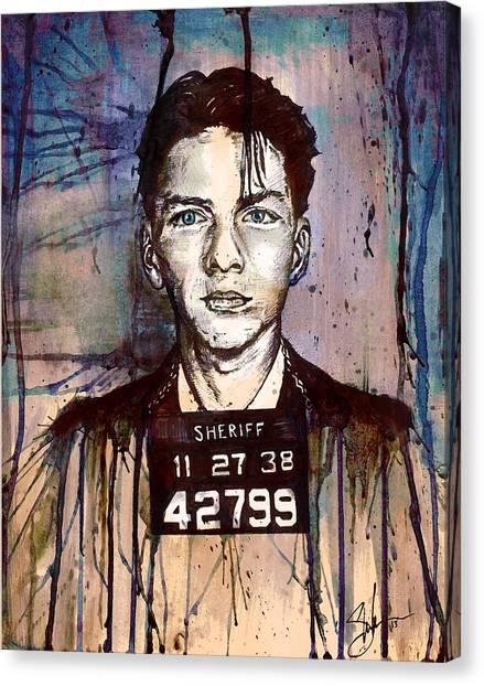Frank Sinatra Mug Shot Canvas Print