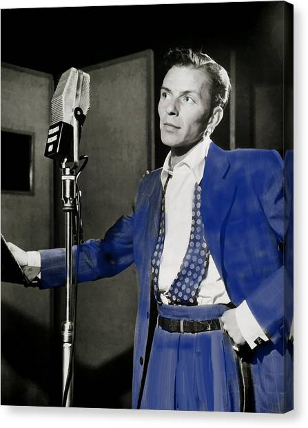 Frank Sinatra - Old Blue Eyes Canvas Print