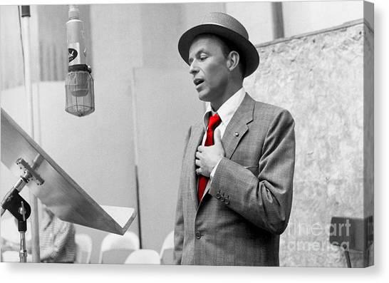 Frank Sinatra Painting Canvas Print