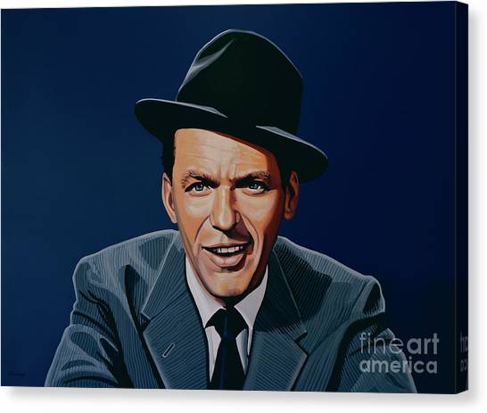 Swing Canvas Print - Frank Sinatra by Paul Meijering
