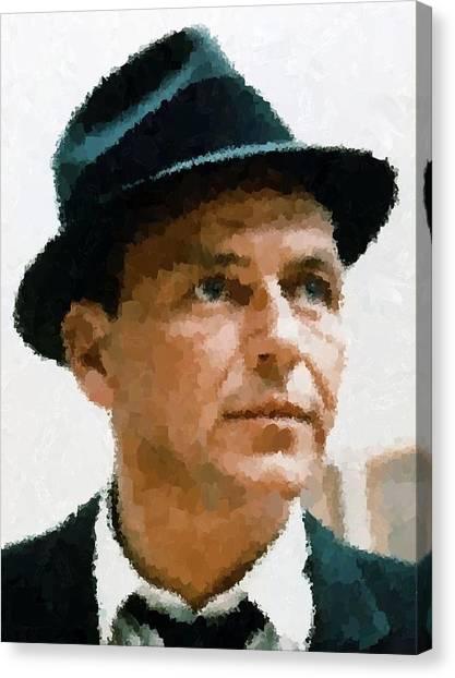 Frank Sinatra Portrait Canvas Print
