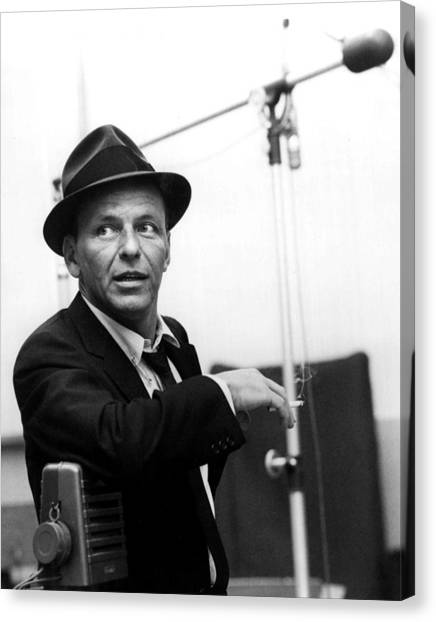 Hollywood Canvas Print - Frank Sinatra by Retro Images Archive