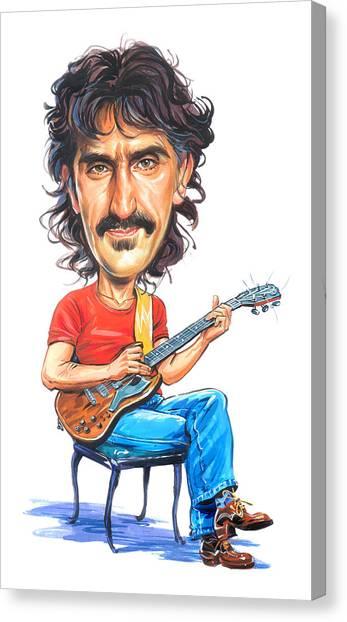 Frank Zappa Canvas Print - Frank Zappa by Art