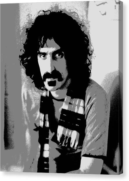 Frank Zappa - Chalk And Charcoal 2 Canvas Print by Joann Vitali