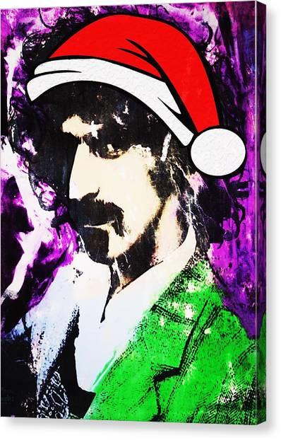 Frank Zappa Canvas Print - Frank Zappa Christmas by Doug Robinson