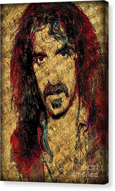 Frank Zappa Canvas Print - Frank Zappa by Gary Keesler