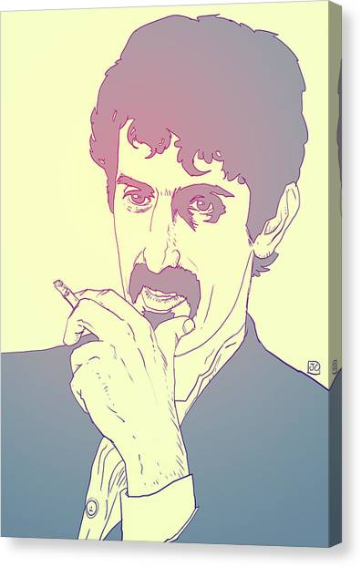 Los Angeles Canvas Print - Frank Zappa by Giuseppe Cristiano