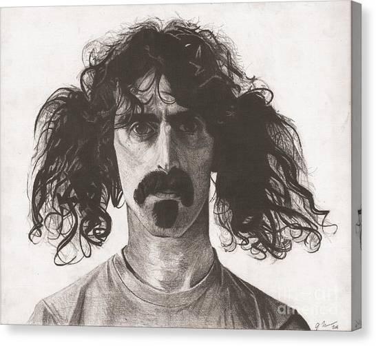 Frank Zappa Canvas Print - Frank Zappa by Jeff Ridlen
