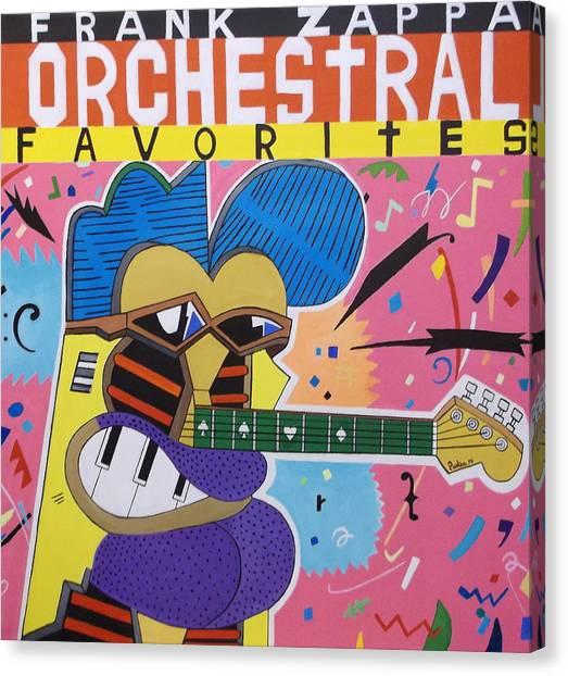 Frank Zappa Canvas Print - Frank Zappa Orchestral Favorites by Don Parker