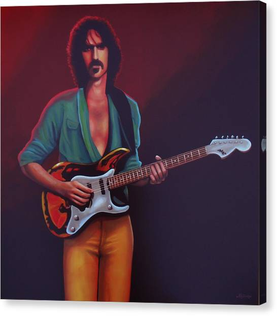 Rhythm Canvas Print - Frank Zappa by Paul Meijering