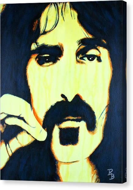 Frank Zappa Pop Art Canvas Print