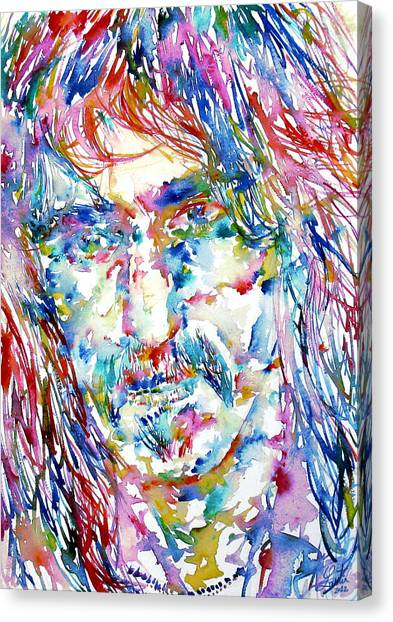 Frank Zappa Canvas Print - Frank Zappa  Portrait.3 by Fabrizio Cassetta
