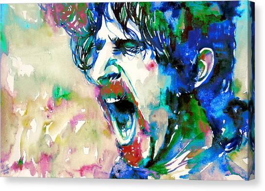 Frank Zappa Canvas Print - Frank Zappa  Portrait.4 by Fabrizio Cassetta
