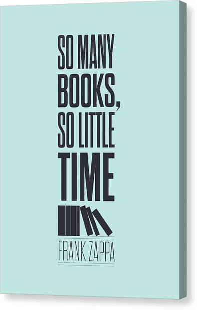 Frank Zappa Canvas Print - Frank Zappa Quote Typography Print Quotes Poster by Lab No 4 - The Quotography Department