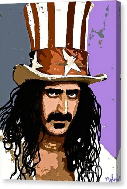 Frank Zappa Canvas Print - Frank Zappa by Saundra Myles