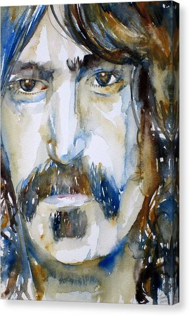 Frank Zappa Canvas Print - Frank Zappa Watercolor Portrait.2 by Fabrizio Cassetta