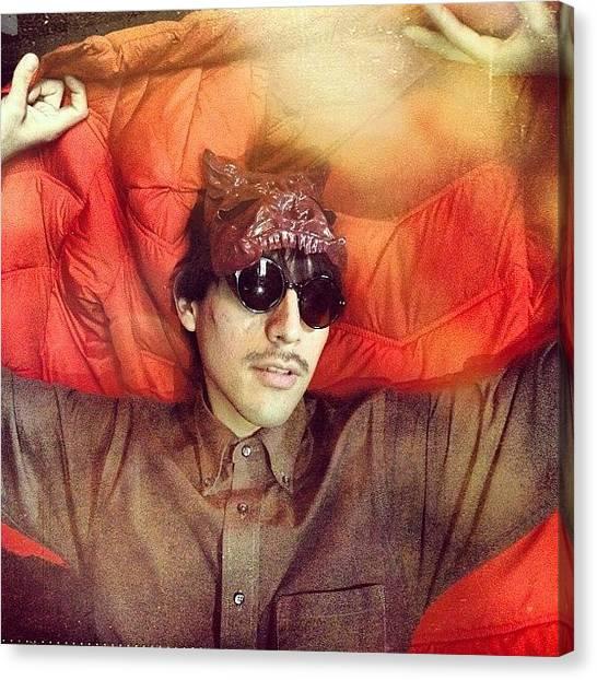 Satan Canvas Print - #frankcorrea #red #sunglassesatnight by Adam Way