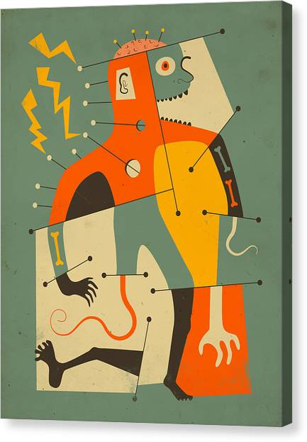 Abstractions Canvas Print - Frankenstein by Jazzberry Blue