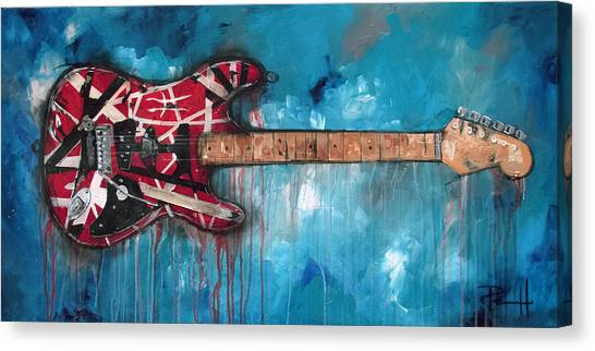 Acoustic Guitars Canvas Print - Frankenstrat by Sean Parnell
