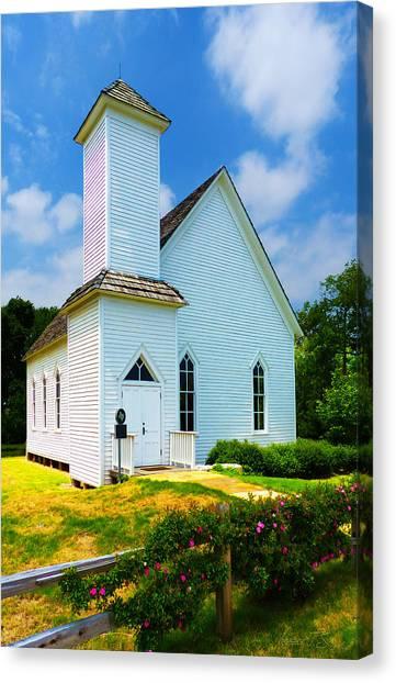 Frankford Church In Spring Canvas Print