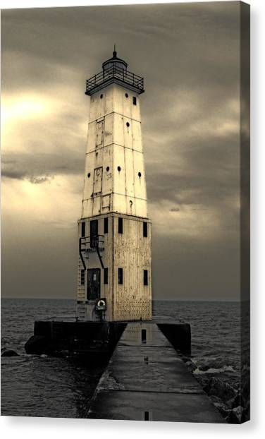Frankfort North Breakwater Canvas Print