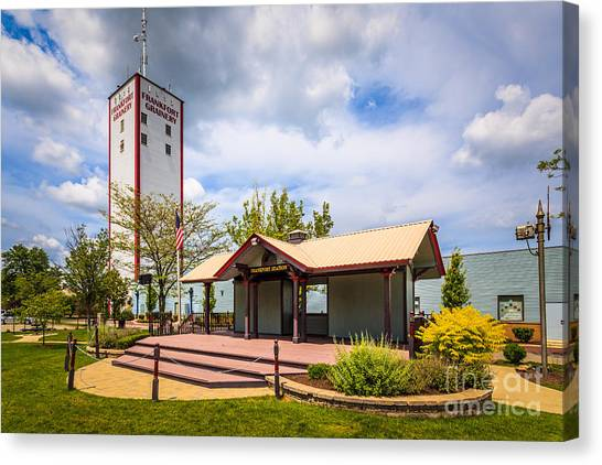 Burton Canvas Print - Frankfort Station And Frankfort Grainery by Paul Velgos