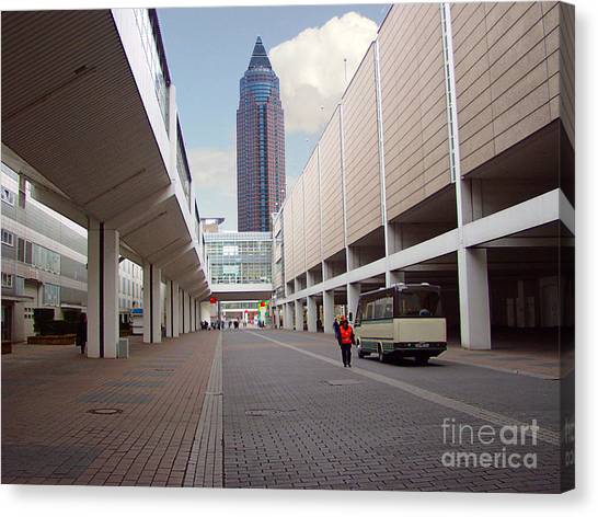 Frankfurter Messe Turm Canvas Print