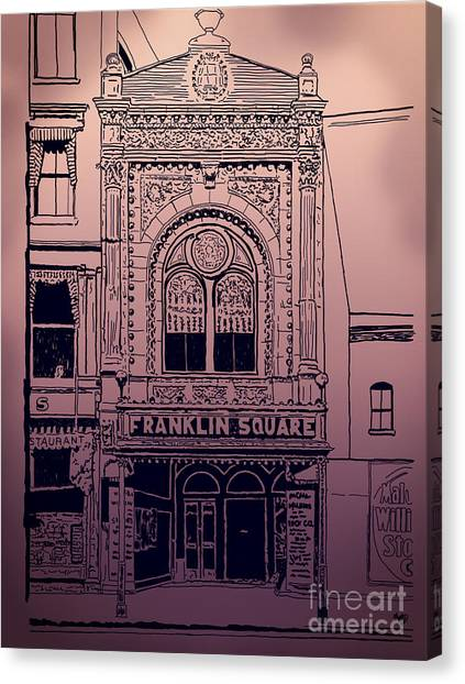 Franklin Square Theatre Canvas Print