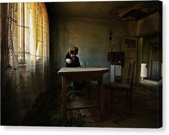 Kitchen Window Canvas Print - Franks Wild Years by Mario Grobenski -