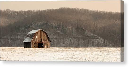 Frechman Barn - Winter Canvas Print