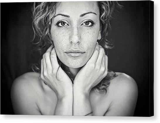 Portrait Canvas Print - Freckles by Oren Hayman