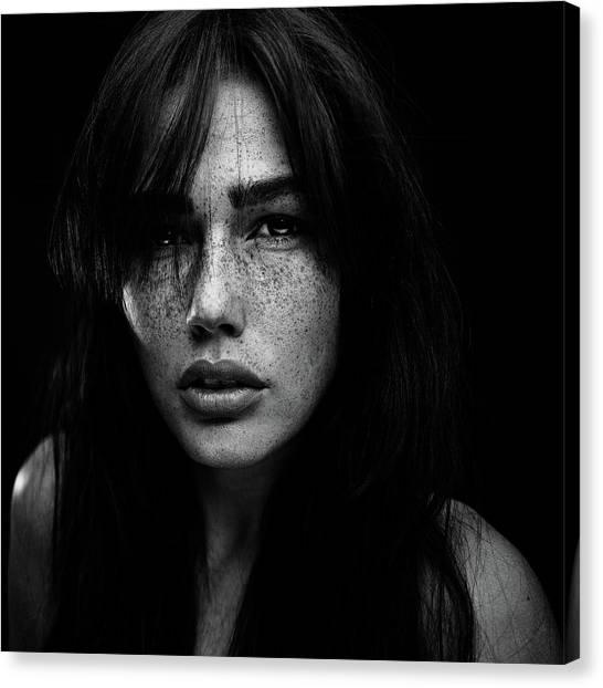 Freckles [romi] Canvas Print by Martin Krystynek Qep