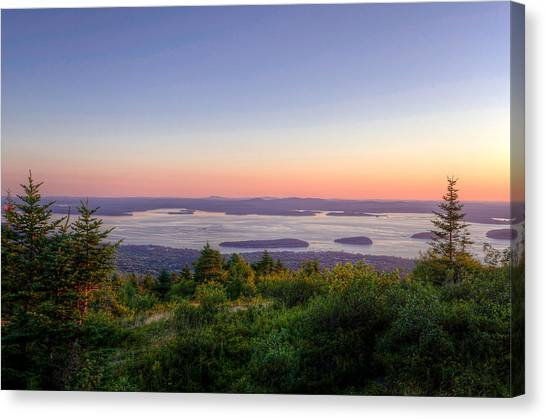 Frenchman's Bay From Cadillac Mountain Canvas Print