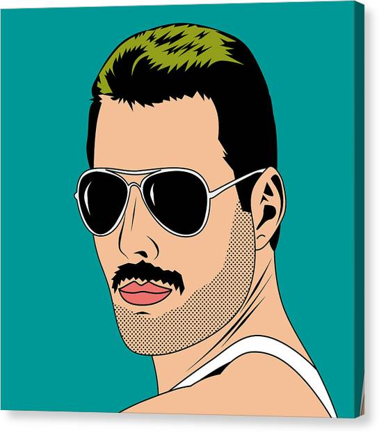 Mercury Canvas Print - Freddie Mercur by Mark Ashkenazi