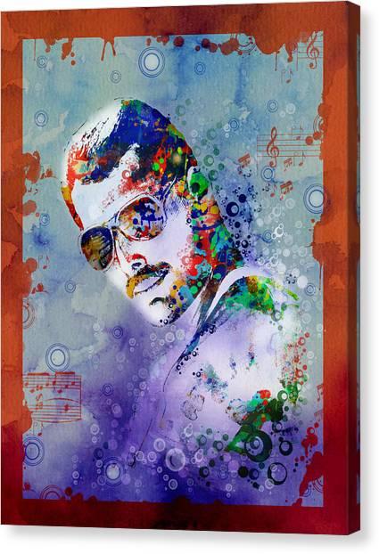Mercury Canvas Print - Freddie Mercury 12 by Bekim Art