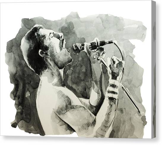 Mercury Canvas Print - Freddie Mercury 8 by Bekim Art