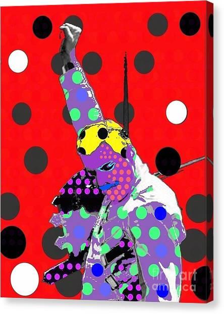 Freddie Mercury Canvas Print by Ricky Sencion